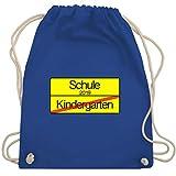 Einschulung - Ortsschild Verkehrsschild Schule 2019 Kindergarten - Unisize - Royalblau - WM110 - Turnbeutel & Gym Bag