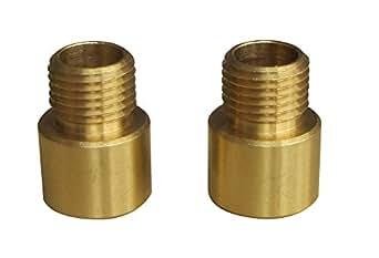 Tibelec 744230 Raccord Femelle/Mâle Laiton Bronze Lot de 2