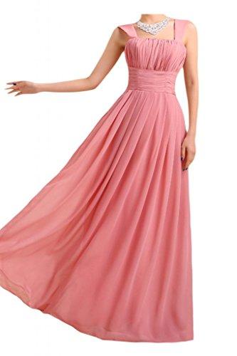Gorgeous Bride Beliebt Traeger Empire Lang Chiffon Abendkleid Ballkleid Brautjungfernkleid Wassermelone