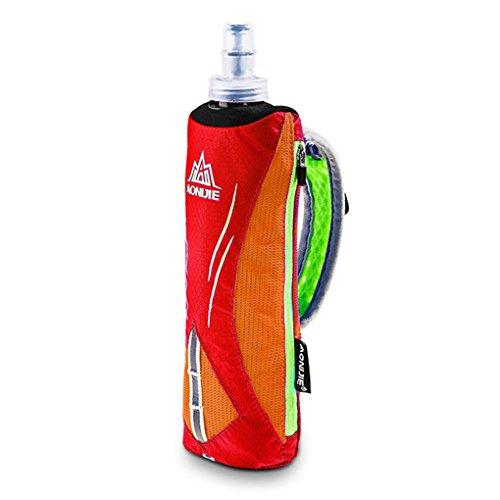 Providethebest Handgehaltene Sport Kettle Pack Outdoor Marathon Handtasche Laufen Waterpoof Taschen-Beutel weiche Wasser-Flasche Orange (Tennis-marathon)