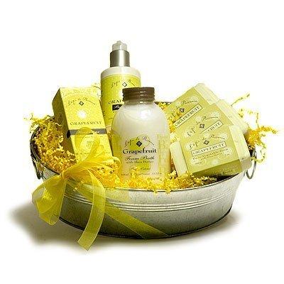 L'Epi de Provence French Soap - Hand Cream - Body Cream - Foam Bath Gift Basket - Grapefruit by L'Epi de Provence