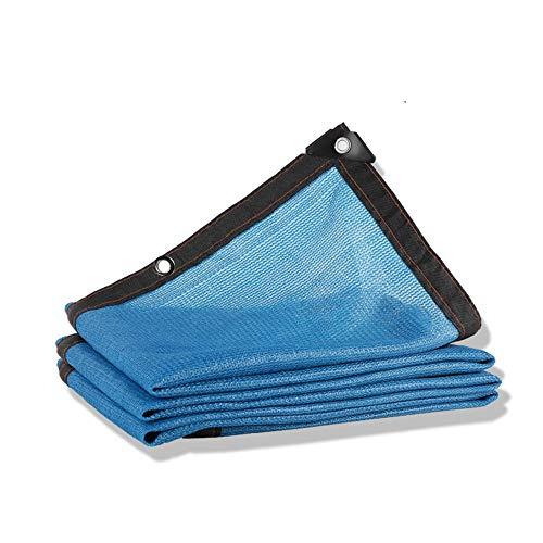 Gartennetze DEWUFAFA 80% Sunblock Shade Cloth Langlebiges UV-beständiges Sonnenschutznetz Für Gartenblumenpflanzengewächshaus-Haustier (Color : Blue, Size : 3x5m) -