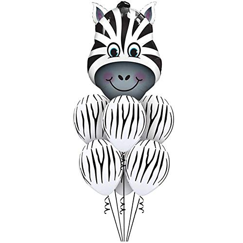 Mattelsen Globos de Animal Helio Cebra Gigantes 1 Pieza 6 Pcs Látex Globos para niños de la decoración de la Fiesta de cumpleaños de los Globos Embroma el Regalo