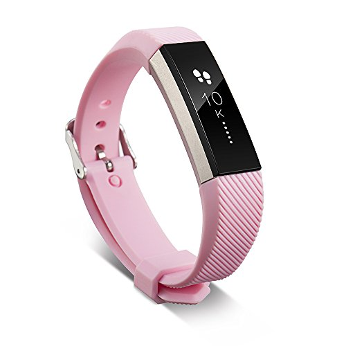 TJW Ersatz-Silikonarmband für Fitbit Alta und Alta HR, verstellbares Ersatz-Band für Fitbit Alta und Alta HR Fitness-Armband, rose
