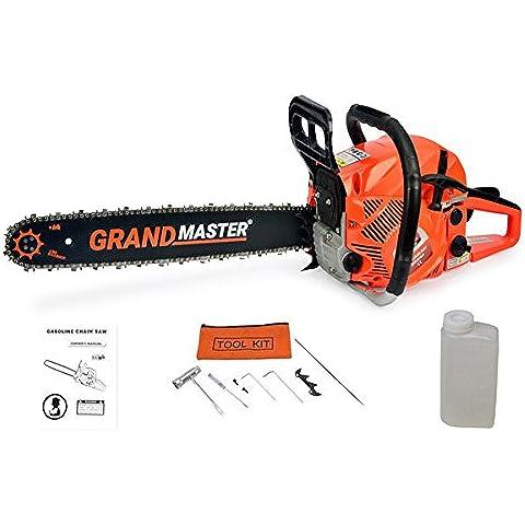 Grandmaster - Motosega a benzina, 62 cc, avviamento facile 3,8 CV, per potatura 50 cm