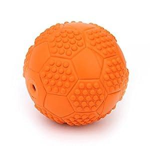 HNBGY Résistance aux morsures Jouet à mâcher Pet Squeaky Toy Ballon d'entraînement pour Chiot Interactive (Orange)