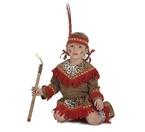Disfraz de Bebé India lujo para niñas de 2-3 años