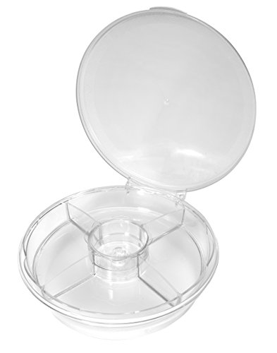 CreativeWare Cool-SPN Spin On Ice Serving Tray, Clear -