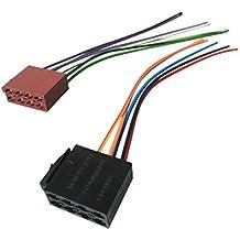 Adaptador de conector ISO Juego de cables para radio de coche Auto coche empotra