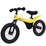Biciclette senza pedali Equilibrio Bici, Auto Bilanciamento Bambini Senza Pedalò 3-6 Anni Girello Bimbo 12 Pollici Scooter - Invia Pompa + Parcheggio Rack + Equipaggiamento Protettivo