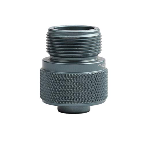 Propan-gas-kanister (DEjasnyfall Gasbrenner Adapter Lindal Ventil Kanister auf 1L Grün Propan Tank oder MAPP Gas Konverter Outdoor Camping Herd Brenner Adapter (grau))