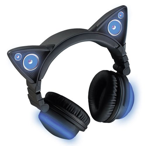 Wireless Bluetooth Cat Ear Headphones with Speakers (8 Color Changing)