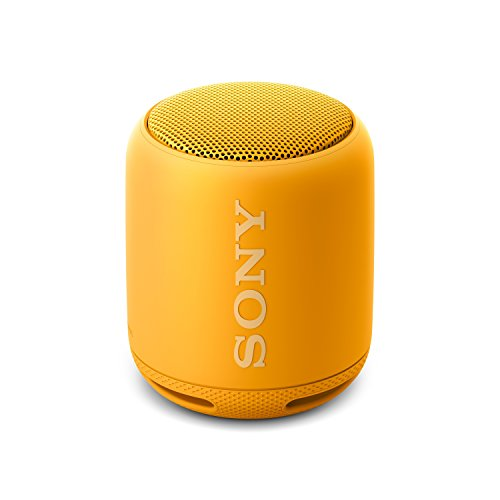 Sony SRS-XB10 Tragbarer, kabelloser Lautsprecher (Bluetooth, NFC, Extra Bass, waaserabweisend, 16 Stunden Akkulaufzeit) gelb