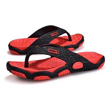 Informale all'aperto sandali piani del tallone pelle Slippers & Estate Luce Soles microfibra maschile sandali US8 / EU40 / UK7 / CN41