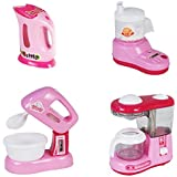 Babytintin Battery Operated Pink Household Home Apppliances Kitchen Play Sets Toys for Girls (B)