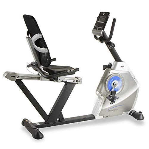 ergometer senioren BH Fitness Comfort Ergo H852 Liegeergometer, Liege-Ergometer, 8 Widerstandsstufen, 10 kg Schwunggewicht, mit Pulsmessung, Ideal für Senioren