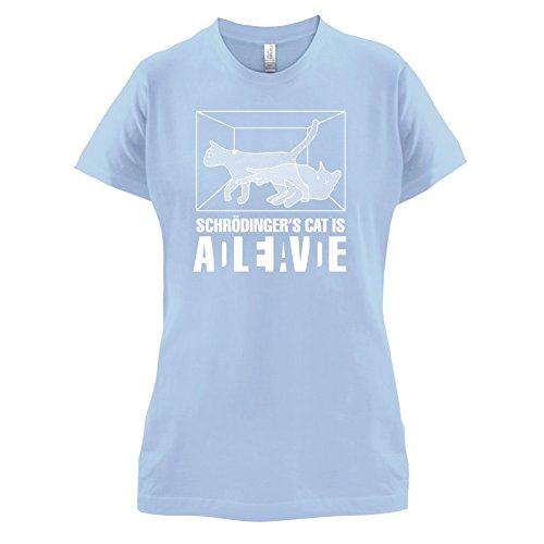 Schrödinger's Cat - Damen T-Shirt - 14 Farben Himmelblau