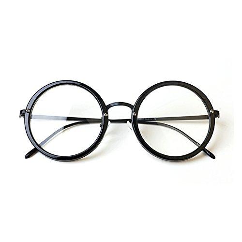 1920s Nerd Brille filigran rund Glasses Klarglas Hornbrille treber 88R584 Black