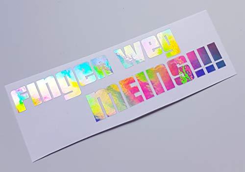 Schönheits Shop Finger Weg Farbwechsel Hologramm Flip Flop Shocker Autoaufkleber Tuning Sticker Decal Turbo Illest Aufkleber