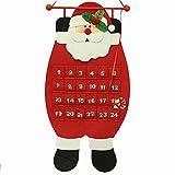 SIridescentZB Decorazioni Natalizie, Calendario Avvento Babbo Natale Pupazzo di Neve Deer casa Porta Appeso Decorazione Santa Claus