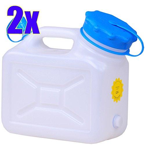 2x weithals kanister 5 liter pro 2er set lebensmittelkanister wasserkanister 5 liter. Black Bedroom Furniture Sets. Home Design Ideas