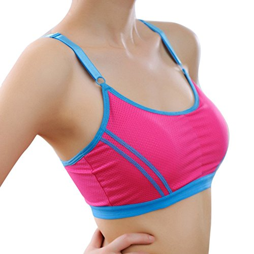 amaz Mall Femme sans Couture sans B ¨ ¹ Gel Bustier Soutien-gorge de sport F ¨ ¹ R Yoga Entrainement de fitness Rouge chiné