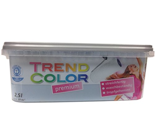 Meffert Trend Color Premium Matte Innen - Dispersionsfarbe Farbton wählbar 2,5 Liter, Farbe:Atlantik