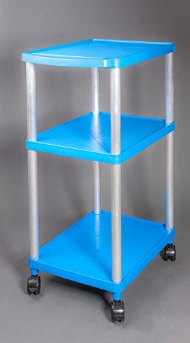 Transportwagen - Werkstattwagen - Rollwagen - bis 250 kg belastbar !! Version in Farbe Blau und Flach - Flach - Tief