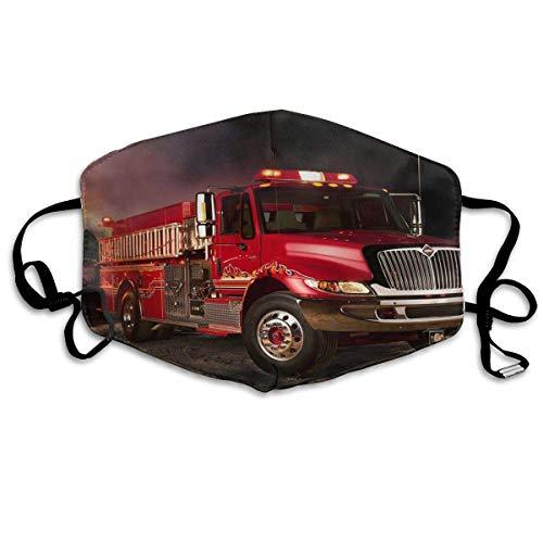 Anti-Allergien Anti-Allergie Ohrschlaufen Halbgesichtsmaske Gesichts- und Nasenabdeckung Outdoor Winddichte Maske verstellbar elastisches Band FireTruck