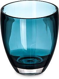 Carlisle EP5015 Epicure Tritan Plastic Double Old Fashioned Glass, 14 oz., Aqua (Pack of 12)