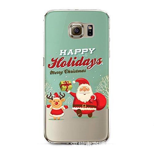 Christmas Hülle iPhone 7 / iPhone 8 LifeePro Weihnachts Cover Ultra dünn Weiches Transparent TPU Gel Silikon Handy Tasche Bumper Case Anti-Scratch Back Cover Full Body Schutzhülle für iPhone 7 / iPhon Happy Holidays