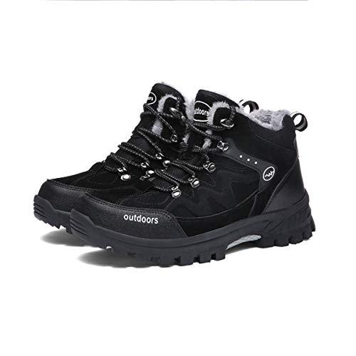 Adong Herren-Schneeschuhe Wanderschuhe kämpfen Stiefel Wasserdichte Schuhe ow-top Schuhe Jagdschuhe für Herbst und Winter,Black,43EU