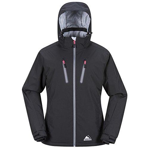 COX SWAIN Damen Funktionsjacke-/ Skijacke NARA - 15.000mm Wassersäule, Colour: Black/Grey Zipper, Size: M