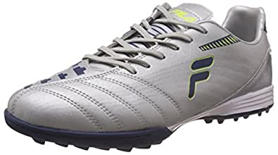 Fila Men's Back Pass Silver and Navy Football Boots -10 UK/India (44 EU)