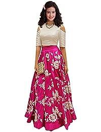 879b0498cd Market Magic World Girl's Wear Banglory Silk Embroided Semi Stitched  Lehenga Choli (MMW-00426_Free Size_8-12 Year…