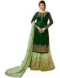ETHNIC EMPORIUM Diseñador Garara Salwar Kameez Vestido de Novia musulmán Vestido de Mujer Colección Bollywood 7260
