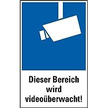LEMAX® Kombischild Dieser Bereich wird videoüberwacht! Symbol gemäß DIN 33450, PVC 200x300mm (Videoüberwachung, Überwachungskamera) praxisbewährt, wetterfest
