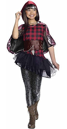Ever After High Cerise Hood Costume Dress Cape (Medium (8-10))