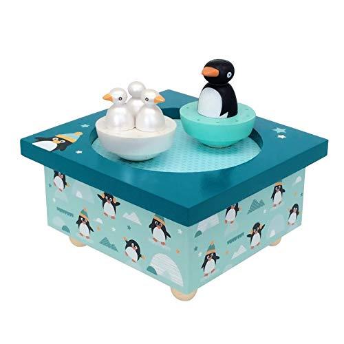 Trousselier Boite à Musique Bois Pingouins