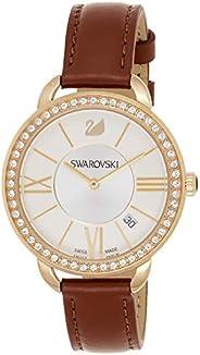 Swarovski Womens Quartz Watch, Analog Display and Leather Strap 5095940