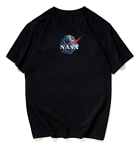 Pizoff Unisex Übergrößes Straße T-Shirt - mit tifer Schalternaht Kurzarm NASA...