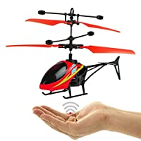 JIANGfu Flying Mini RC Infraed Induction Helicopter Aircraft Flashing Light Toys For Kid
