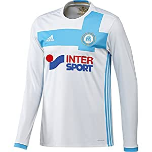 adidas Olympique Marseille Maillot Manches Longues Homme, White/Om Blue/Light Football Gold, FR : M (Taille Fabricant : M)