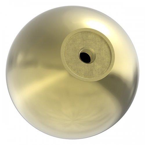 Messingkugel hohl ø 65mm, mit M8 Gewinde, spezialbeschichtet für Innen- und Außenbereich