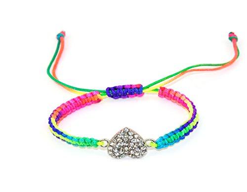 XL Junge Mädchen Kinder Herz Freundschaft Armbänder Ideal Weihnachtsgeschenk Multi