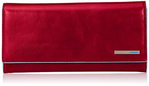 Piquadro PD3211B2/R Blue Square Portafoglio, Rosso, 18 cm