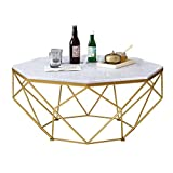 ZRXian-Kaffeetische Marmor Couchtische, Mid-Century Moderner Beistelltisch für das Wohnzimmer Cafe Cocktail Tisch, Eleganter Nachttisch Beistelltisch Coffees Tables Set