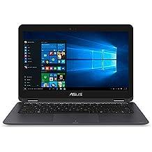 "ASUS Zenbook 13.3"" Full HD 1920x1080 Touchscreen 2-in-1 Laptop PC Intel Core M3-6Y30 Processor 8GB RAM 256GB SSD 802.11AC WiFi HDMI Bluetooth Webcam Windows 10-Gray"