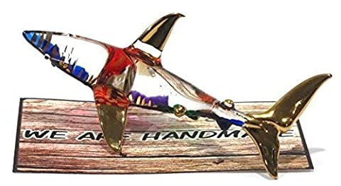 Handmade Shark Art Glass Blown Marine Sea Animal Figurine by We Are Handmade Figurine Art Glass
