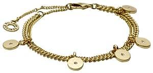Pilgrim Jewelry Damen Armband Messing Kristall Free soul 16.5 cm weiß 161412002